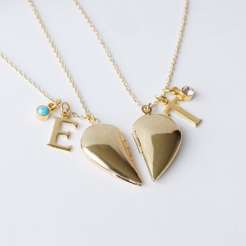 two size item shaped of fashion product color consists one each friend half pendant best heart silver jewellery kilimall necklace letter