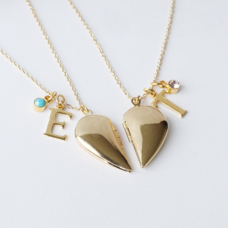 pendant necklaces best friends p jcpenney personalized half heart