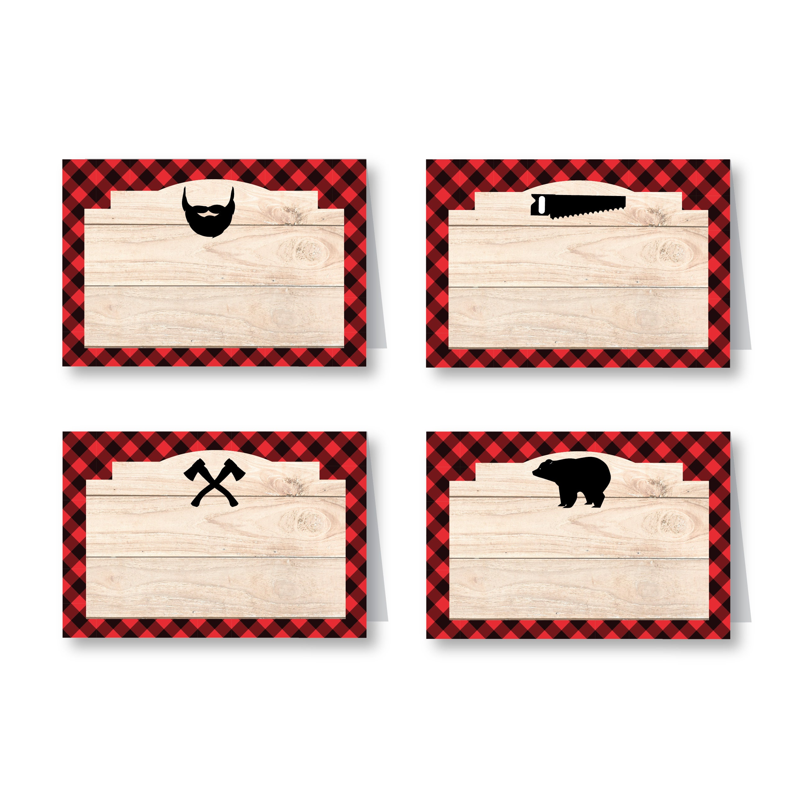 Lumberjack Party - Food, Name, Tent Cards or Labels ...