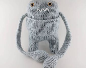 READY TO SHIP - Grumpy Hug Monster with pocket