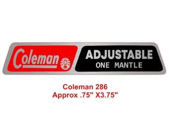 Coleman 286 Decal Sticker