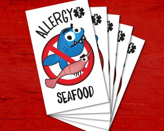 Tattoos for children allergic to SEAFOOD.