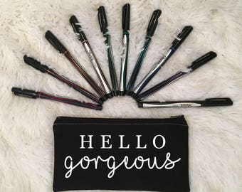 HELLO Gorgeous Pencil Case, Zippered Pouch