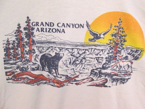 50 US Arizona shirt 50 vintage 7os deer parks L National size eagles unisex circa chipmunk bear sunset grand T canyon Ox0qwCBEa0