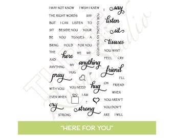 "TRS ""Here For You"" Clear Stamp set"