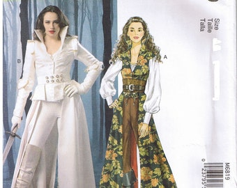 Game of Thrones Costume Coat Cape Corset Top Belt McCalls 6819 Sewing Pattern 6 8 10 12 14