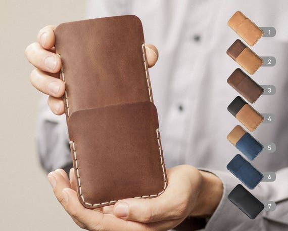 Google Pixel 2 XL Nexus 6P 6 5X 5 Case Genuine Waxed Leather Sleeve Rough Vintage Style Pouch Custom Sizes