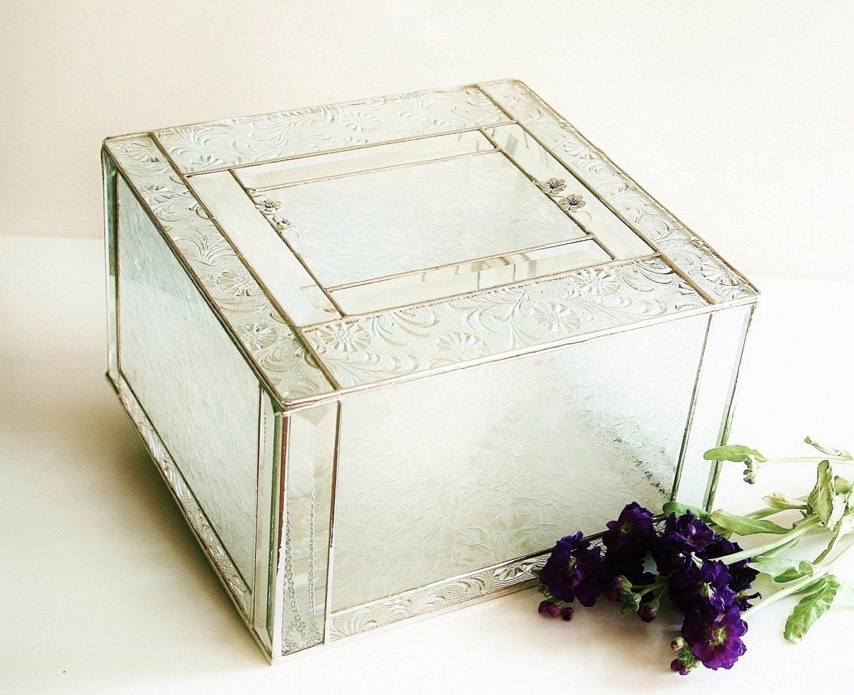 Elegant Stained Glass Wedding Keepsake Display Box Reception