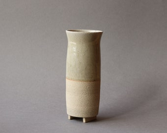 Footed Vase - Ash Glaze