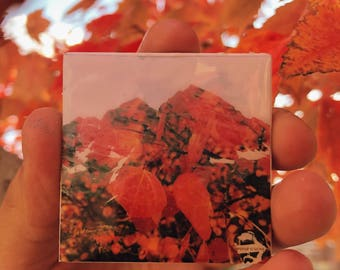 Fall Maroon bells 2x2 Ponte Trucha handmade refrigerator magnets magnet