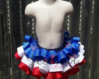 4th of July tutu.. 4th of July ribbon tutu.. Red, white, and blue ribbon tutu.. Red, white, and blue tutu
