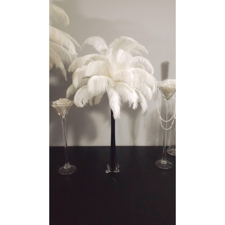 Black eiffel tower vase ostrich feather centerpiece black zoom reviewsmspy
