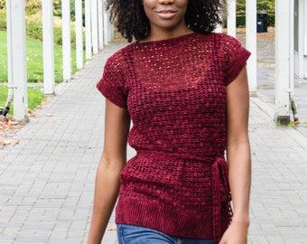 Marsala Tunic Women's Crochet Pattern Digital Download