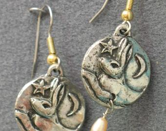 Moon Hare Earrings