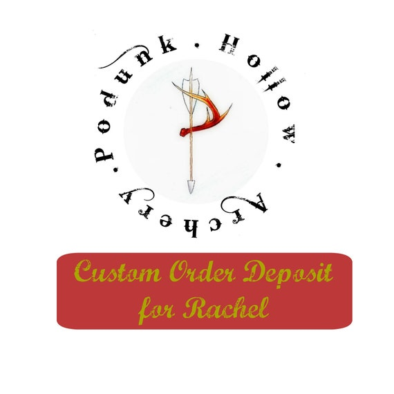 Custom order deposit  for Rachel, Archery Arrows, 6 wood arrows, Chronicles of Narnia inspired self nocked arrows
