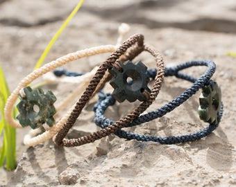 CHAKANA serpentine inca cross macrame bracelet - simple and elegant