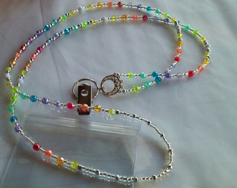 Beaded ID Necklace; Beaded Badge Holder; Beaded Lanyard