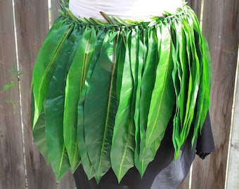 Ti leaf skirt for Polynesian Costume, Hula- Made with silk ti leaves-Hula dance all sizes, Tahitian costume, polynesian dance, hawaiian