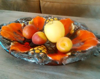 Ceramic dish. Fruit basket, fruit bowl / bread basket, bread basket