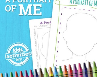 Portrait of Me Printable Activity Worksheet