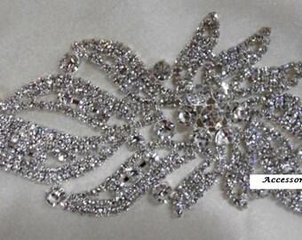 """Crystal Applique Wedding Accessories Wedding Decorations """"Daffodil"""""""
