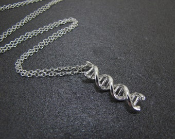DNA Necklace, Science Necklace, Double Helix Necklace