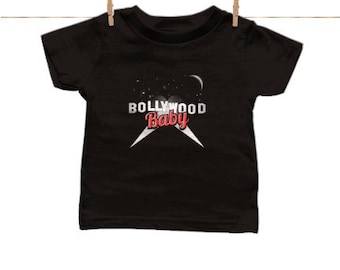 Bollywood Baby crew neck tee - cute Indian inspired baby clothes