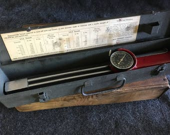 Vintage Apco torque tool in metal case