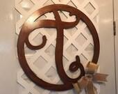 Brown Monogram Door Hanger - Monogram Door Wreath - Monogram Door Sign - Monogram Door Decor - Monogram Door Letter - Monogram Wedding Gift