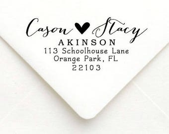 Personalized Self Inking Return Address Stamp - self inking address stamp - Custom Rubber Stamp, calligraphy stamp A56