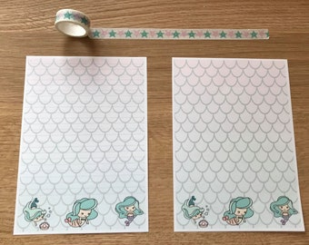 Mermaid Snail Mail Pen Pal Writing Paper