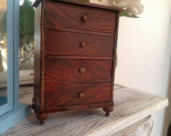 Antique chest of drawers for the old dolls houses or collectible
