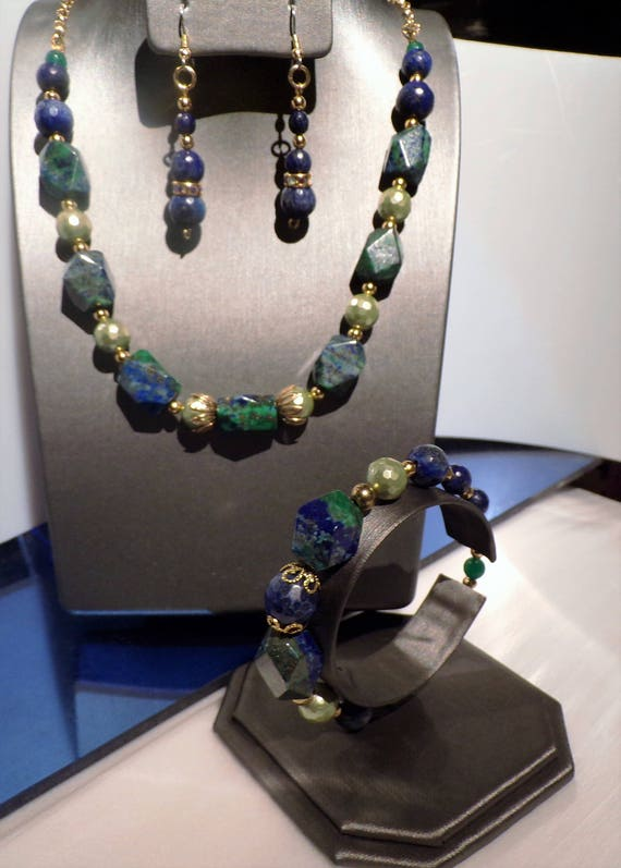 Lapis-Malachite Love  Blue Green Nature's Neutrals