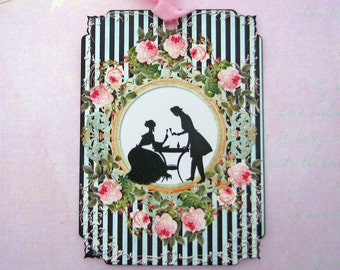 Silhouette Shabby French Love Gift Tags