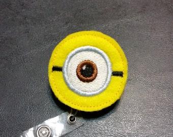 Minion Retractable ID Name Badge Holder Reel