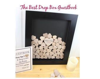 Wedding Drop box Wedding Guest book Alternative, Heart Drop, Drop Box, Guest Book, Wedding Guestbook, heart drop guest book