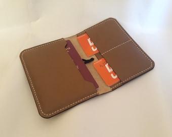 Leather Passport Wallet, Distressed Leather Travel Wallet, Passport Holder