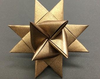 BRONZE LARGE German paper star ornament Moravian star Froebelstern