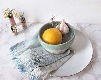 Set of 2 cloth napkins, indigo fabric, kitchen linens, woven napkins, handwoven fabric // INDIGO NAPKIN SET // kitchen decor, cotton napkins