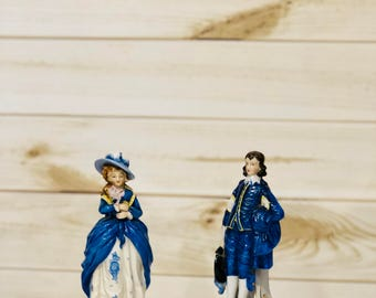 Maruyama Colonial Figures Set of 2 Occupied Japan