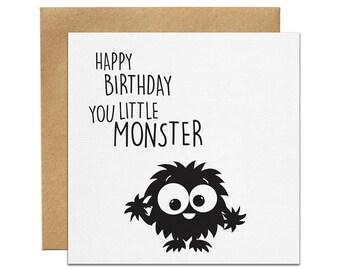 Little Monster Greeting Card   Made In Australia