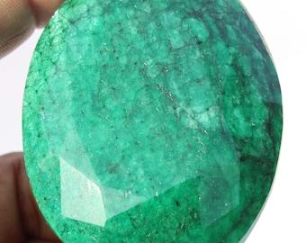 787 Cts  Green Corundum Sapphire Rare Huge Museum Size Oval Cut Jewelry Making Loose Gemstone 72x55x25 mm