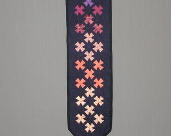 patchwork blue medium pennant