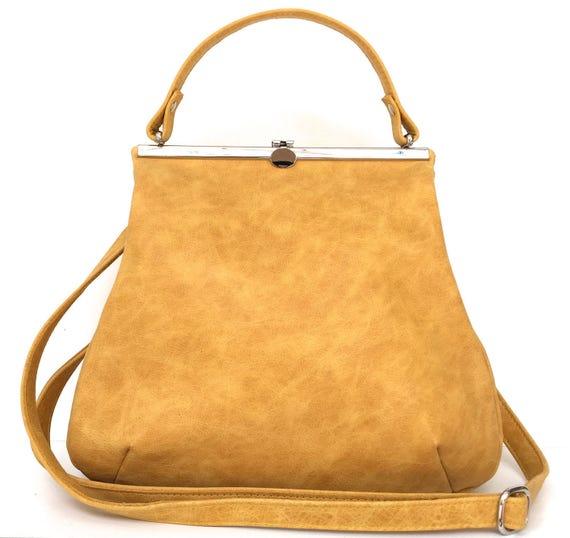 """leather bag, """"SAFRAN"""",yellow,kaa berlin"""