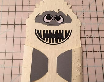 Bumble Yeti Christmas Gift Card Holder