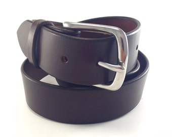 "Men's Belt- Dark Brown - 100 Year Belt - Full Grain Bridle Leather - 1.5"" - Lifetime Guarantee - Amish Made"