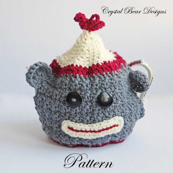 Crochet Tea Cozy PATTERN / Sock Money Teapot Cover / Teacozy / PDF ...