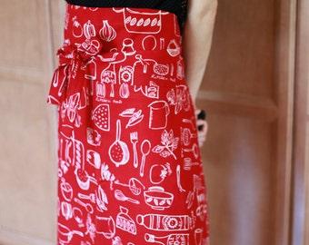 Two pockets waist apron