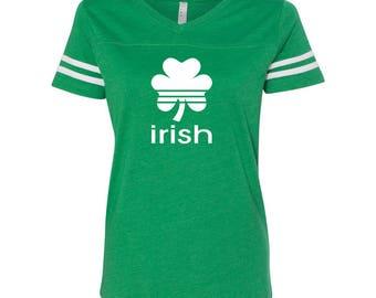 Irish Sports Pride Ireland St Patricks Day Women's Football Jersey DT0432