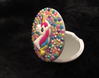 Rainbow Unicorn Compact Mirror